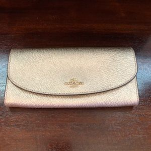 Rose Gold Coach Wallet